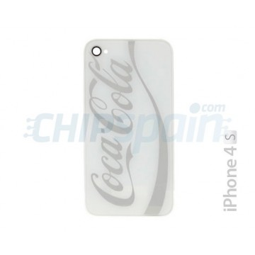 Glass and Rear Frame iPhone 4S -Coke White