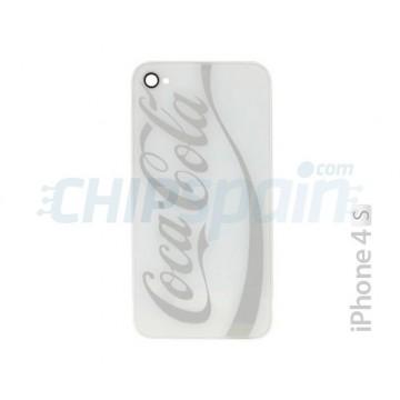 Vidro e frame traseiro iPhone 4S -Coke Branco