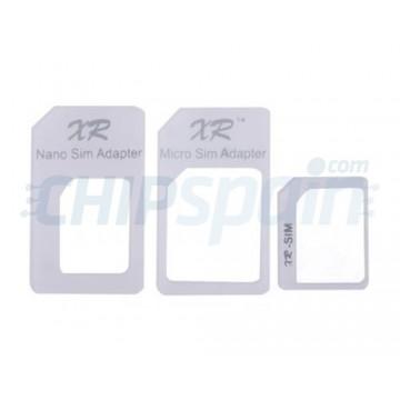 Pack de Adaptadores NanoSIM y MicroSIM -Blanco