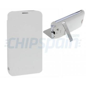 Funda Stand con Batería 3800mAh Samsung Galaxy Note 2 -Blanco