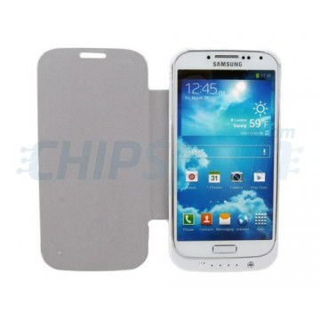 Flip Stand 3200mAh Battery Case Samsung Galaxy S4 -White