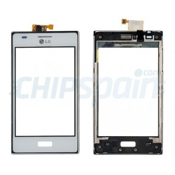 Touch screen with frame LG Optimus L5 -White