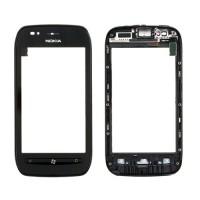 Pantalla Táctil con Marco Nokia Lumia 710 -Negro