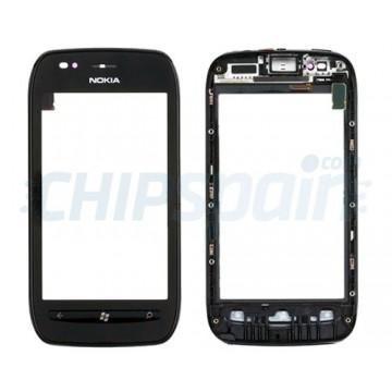 Pantalla Táctil con Marco Nokia Lumia 710 - Negro