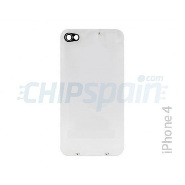 Glass Back Cover with Bezel iPhone 4 -Clear