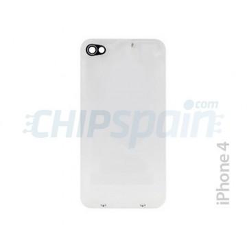 tampa traseira de vidro com moldura iPhone 4 -Transparente
