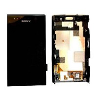 Full screen with frame Sony Xperia U -Black