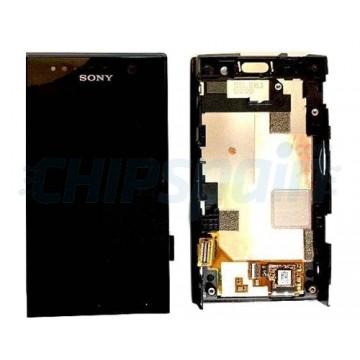 Pantalla Sony Xperia U Completa con Marco Negro