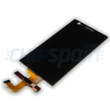 Tela Cheia Sony Xperia P -Preto