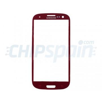 Cristal Exterior Samsung Galaxy SIII -Rojo