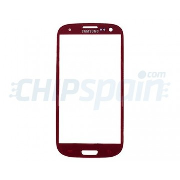 Exterior Glass Samsung Galaxy SIII -Red