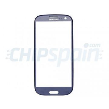 External Glass Samsung Galaxy SIII -Blue