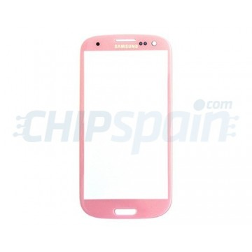 Exterior Glass Samsung Galaxy SIII -Pink