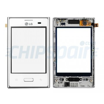 Touch screen with frame LG Optimus L3 -White