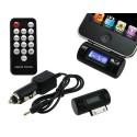 Transmisor FM a 30 PIN iPhone/iPad/iPod con Control Remoto