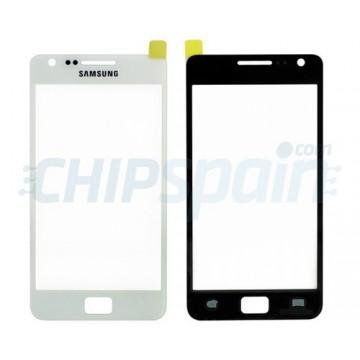 Cristal Exterior Samsung Galaxy SII -Blanco