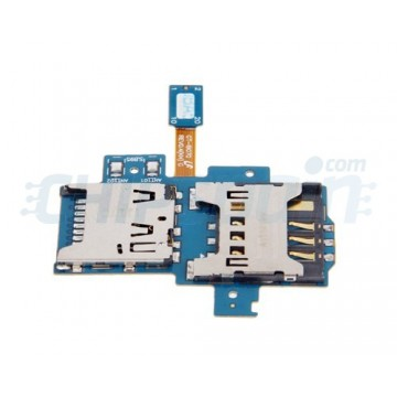Flexible Cable with SIM and MicroSD Reader Samsung Galaxy S Advance