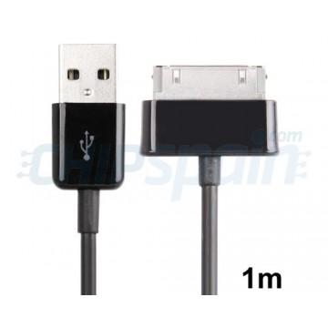 Cable USB Samsung Galaxy Tab (1m) -Negro
