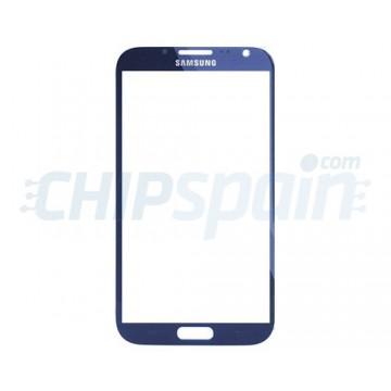 Cristal Exterior Samsung Galaxy Note 2 -Azul Oscuro