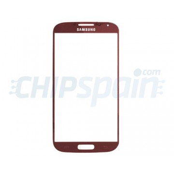 Exterior Glass Samsung Galaxy S4 -Red