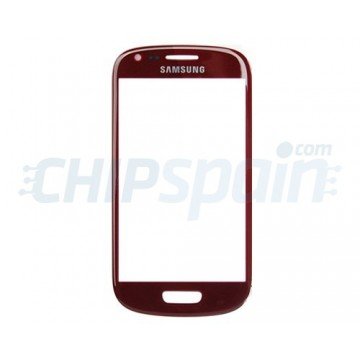 Vidro Exterior Samsung Galaxy SIII Mini -Vermelho