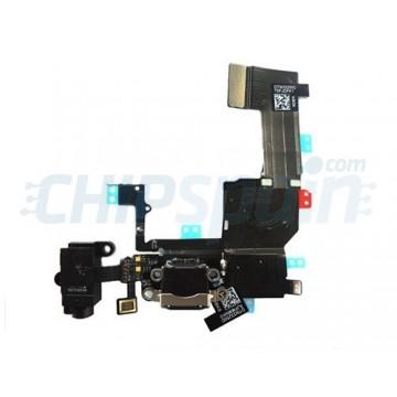 Cable Flex Conector Carga Audio y Micrófono iPhone 5C -Negro