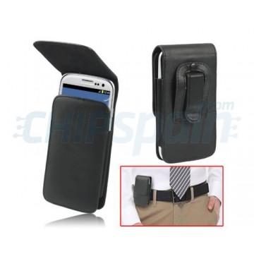 Funda Piel con Clip Samsung Galaxy SIII -Negro