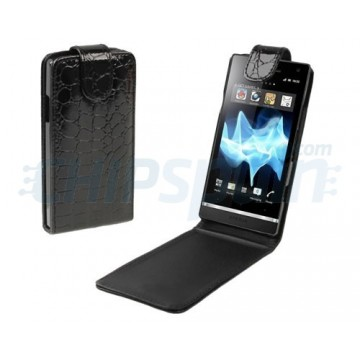 Flip Case Crocodile Sony Experia S -Black