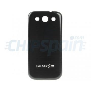 Tapa Trasera Batería Samsung Galaxy SIII -Negro Metalizado