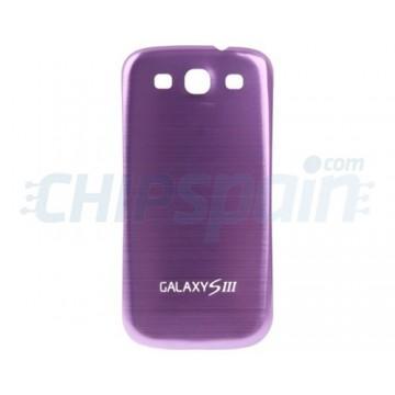 Tapa Trasera Batería Samsung Galaxy SIII -Morado Metalizado
