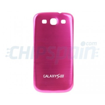 Tapa Trasera Batería Samsung Galaxy SIII -Rosa Metalizado