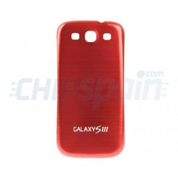 Tapa Trasera Batería Samsung Galaxy SIII -Rojo Metalizado