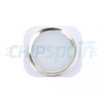 Botão Home iPhone 5 -Branco/Prata