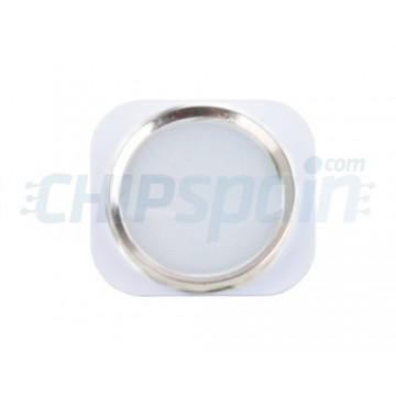 Home Button iPhone 5 -White/Silver