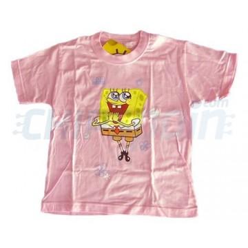 Camiseta Rosa Primavera Bob Esponja -Talla 8
