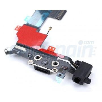 Cable Flex Conector Carga Audio y Micrófono iPhone 5S -Negro