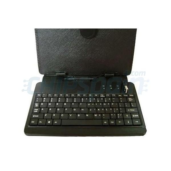 Funda universal con teclado tablets 10 negro - Fundas con teclado para tablet ...