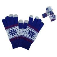 Luvas de Toque -Floco de Neve Azul