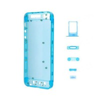 Carcasa Trasera Frosted iPhone 5 -Azul