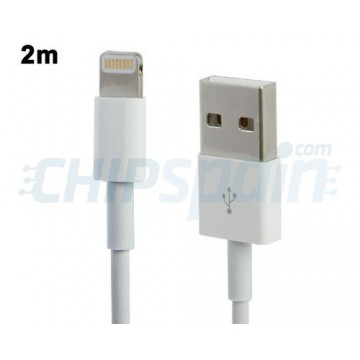 Cable USB a Lightning 2m -Blanco