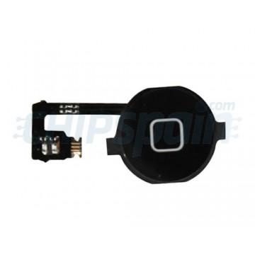 Botón Home + Cabo Flexible iPhone 4 -Preto
