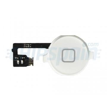 Botón Home + Cabo Flexible iPhone 4 -Branco