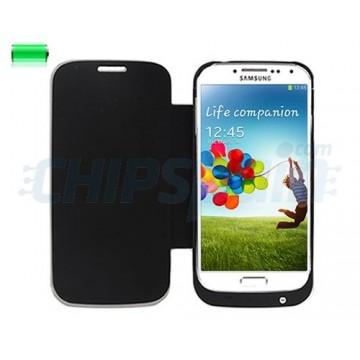 Carcaça Flip Stand 3200mAh Bateria Samsung Galaxy S4 -Preto