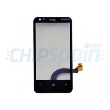 Vidro Digitalizador Táctil com Quadro Nokia Lumia 620 (Rev 3.0) -Preto