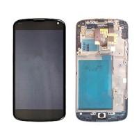 Pantalla Completa con Marco LG Nexus 4 (E960) -Negro