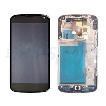 Pantalla LG Nexus 4 (E960) con Marco Completa Negro