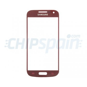 Exterior Glass Samsung Galaxy S4 Mini -Red