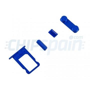 Pacote de Botões + PortaSIM iPhone 5/iPhone 5S -Azul