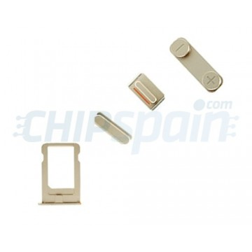 Pack de Botones + PortaSIM iPhone 5/iPhone 5S Champagne