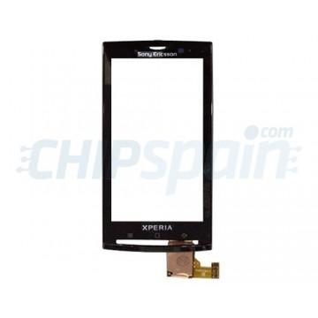 Vidro Digitalizador Táctil com Quadro Sony Ericsson Xperia X10 -Preto